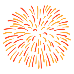 Colorful firework stroke