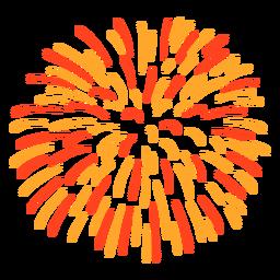 Trazo de fuegos artificiales de colores