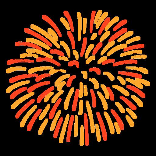 Golpe de fogo de artifício colorido