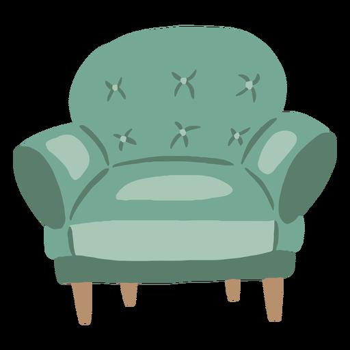 Cadeira confortável plana
