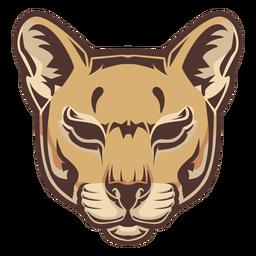 Logotipo da cabeça do puma