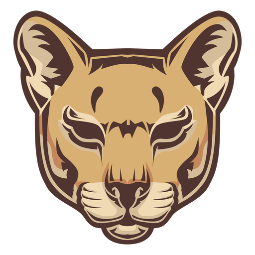 Logotipo de cabeza de puma Transparent PNG