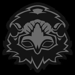 Crow head logo