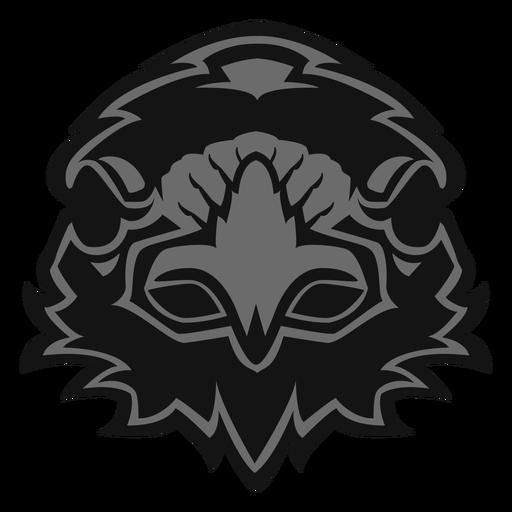 Logotipo de cabeza de cuervo