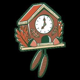 Ilustración de reloj de cuco