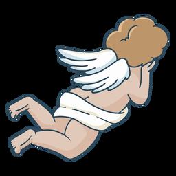 Ilustração das costas do cupido