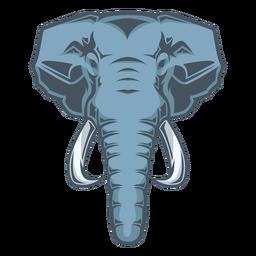 Logotipo da cabeça de elefante