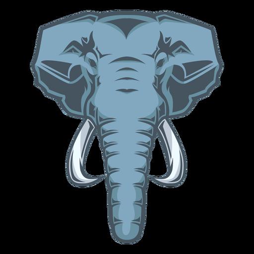 Logotipo de cabeza de elefante