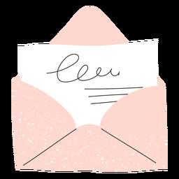 Doodle de cartão envelope