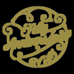 Distintivo português feliz aniversario