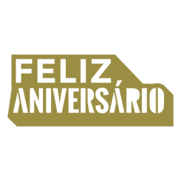 Feliz aniversario portuguese lettering
