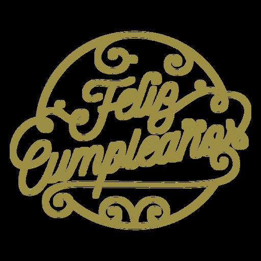 Feliz cumpleaños emblema espanhol Transparent PNG