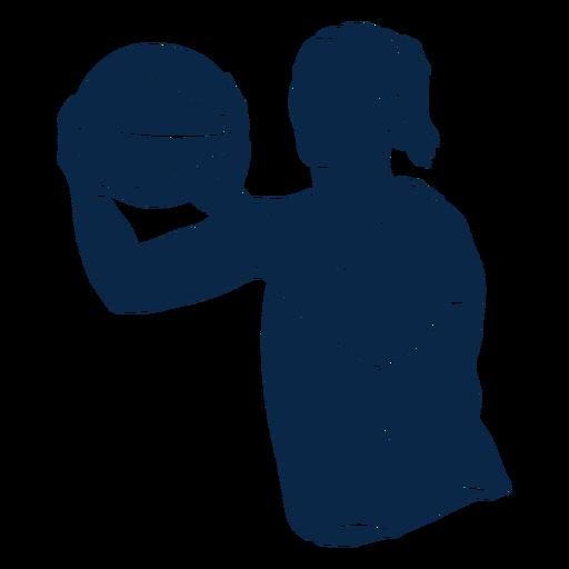 Atleta de jugador de baloncesto femenino cortar