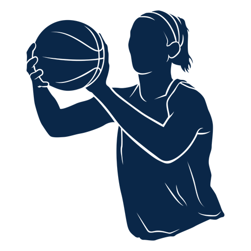 Female basketball player athlete cut out