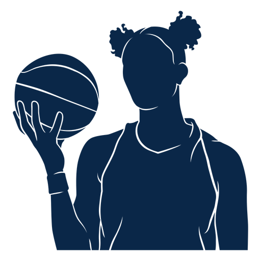 Female basketball player cut out
