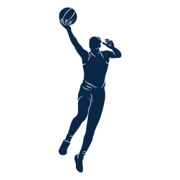 Female basketball player jump cut out