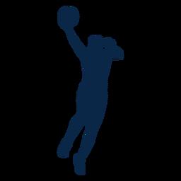 Jogador de basquete feminino recorte