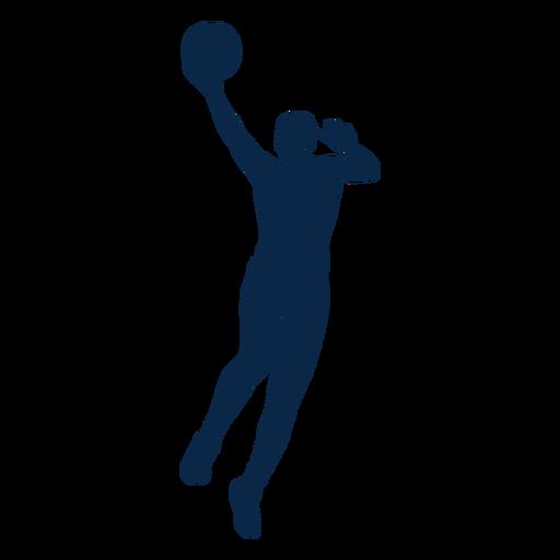 Salto de jugador de baloncesto femenino cortado