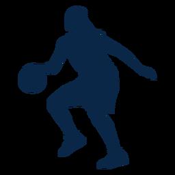 Jogadora de basquete jogando cut out