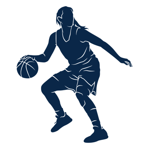 Female basketball player playing cut out