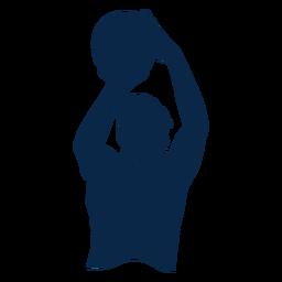 Jogadora de basquete feminina cortada
