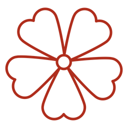 Five petal flower stroke
