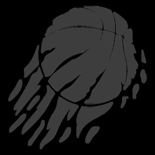 Corte de baloncesto llameante