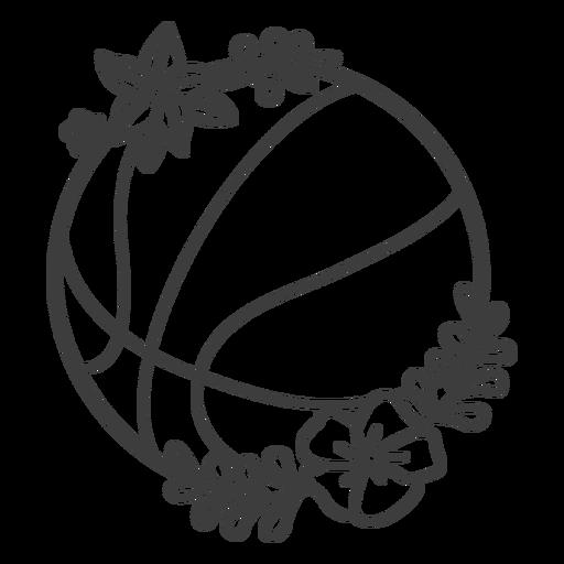 Floral basketball ball stroke