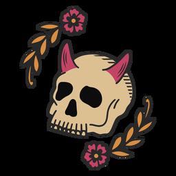 Blumenschädel Tattoo
