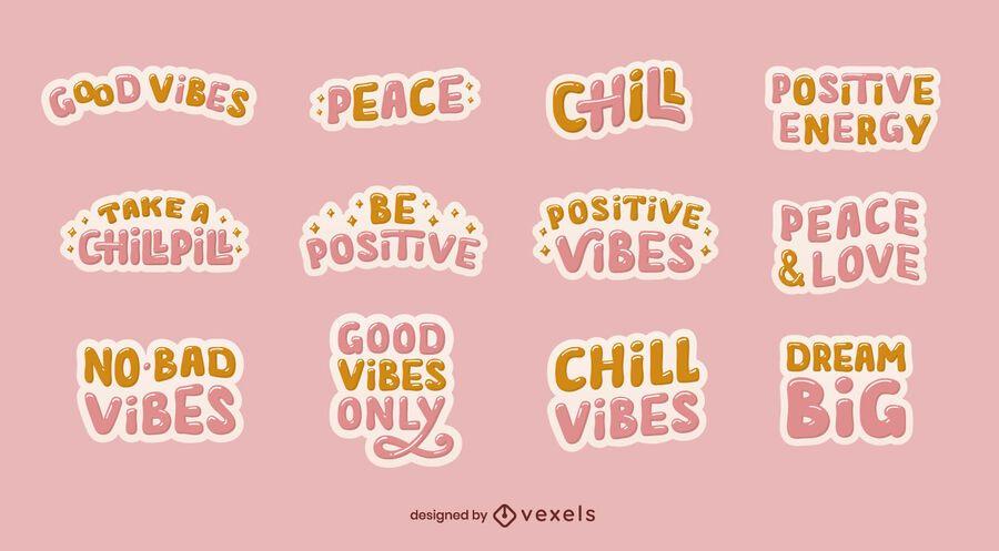Good vibes sticker set