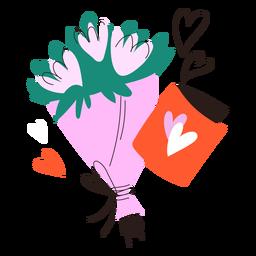 Doodle de buquê de flores