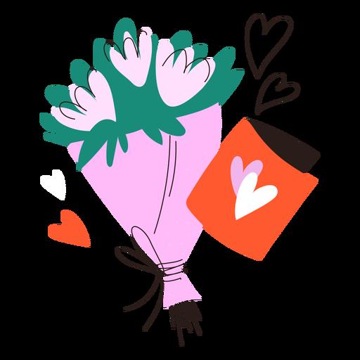 Doodle de ramo de flores