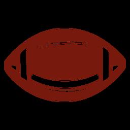 Corte horizontal da bola de futebol