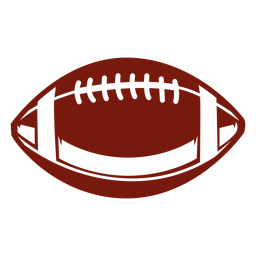 Football ball horizontal cut out