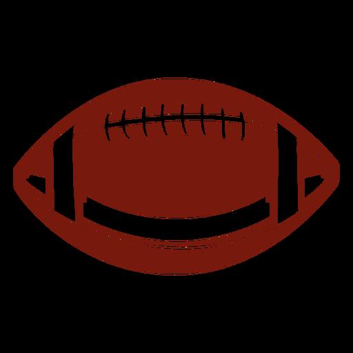 Fußball horizontal ausgeschnitten