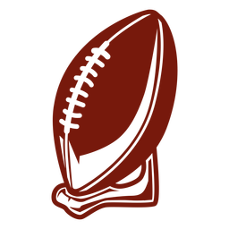 Soporte de pelota de fútbol cortado