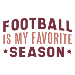 Football favorite season lettering