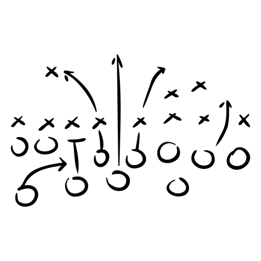 Doodle de plan de juego de fútbol Transparent PNG