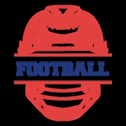 Football helmet badge football