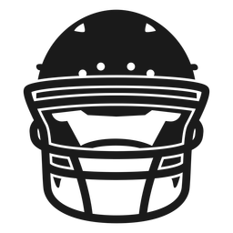 Football helmet front cut out