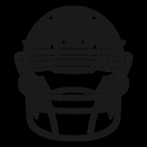 Football helmet front cut out Transparent PNG