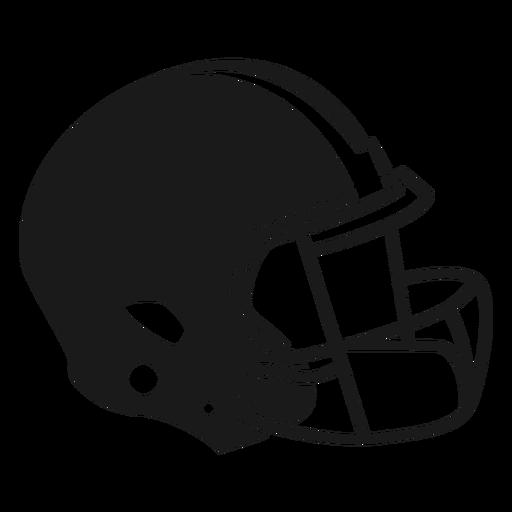 Football helmet side cut out