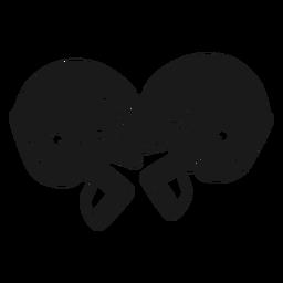 Recortes de capacetes de futebol