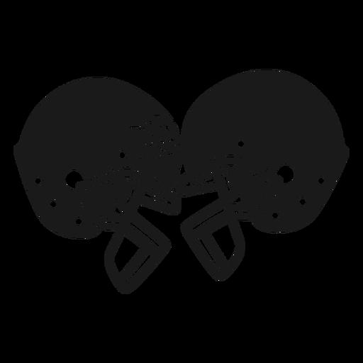 Football helmets cut out