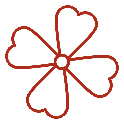 Four leaf clover stroke