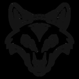 Cabeza de zorro de alto contraste