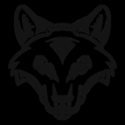 Fox head high contrast