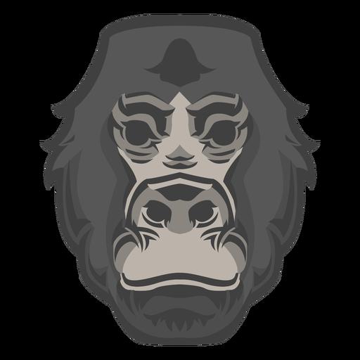 Logotipo de cabeza de gorila Transparent PNG