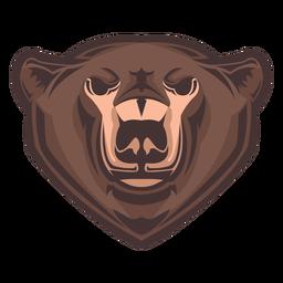 Logotipo da cabeça de urso pardo