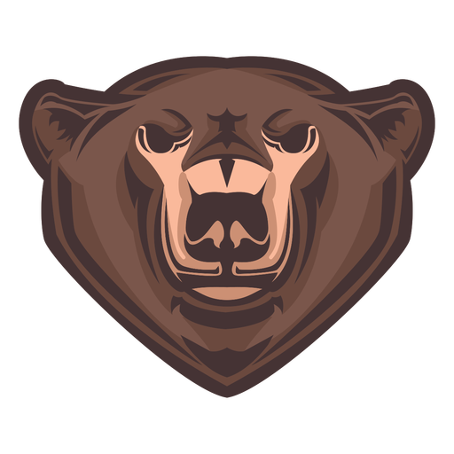 Grizzly bear head logo Transparent PNG